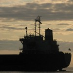 Freighter Side Silhouette